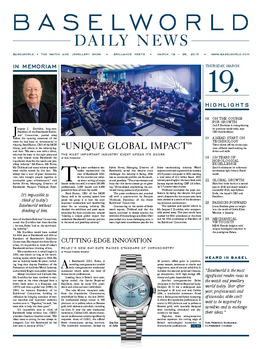 BASELWORLD DAILY NEWS